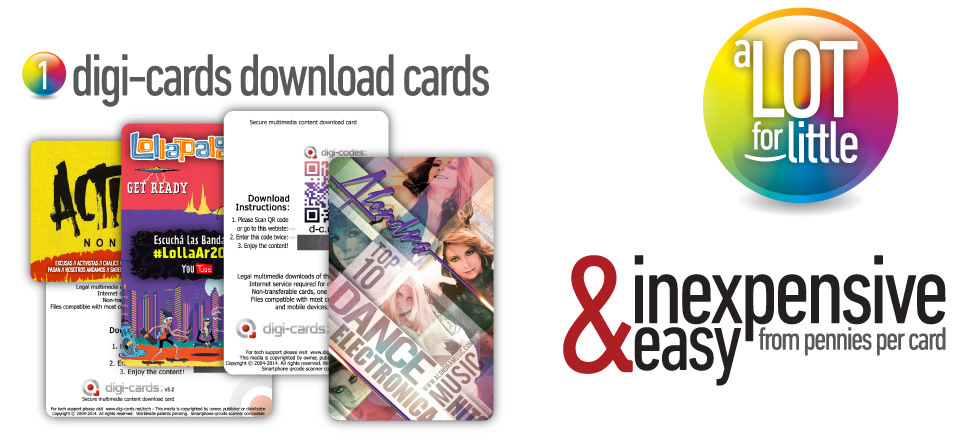Digi-cards Download-cards