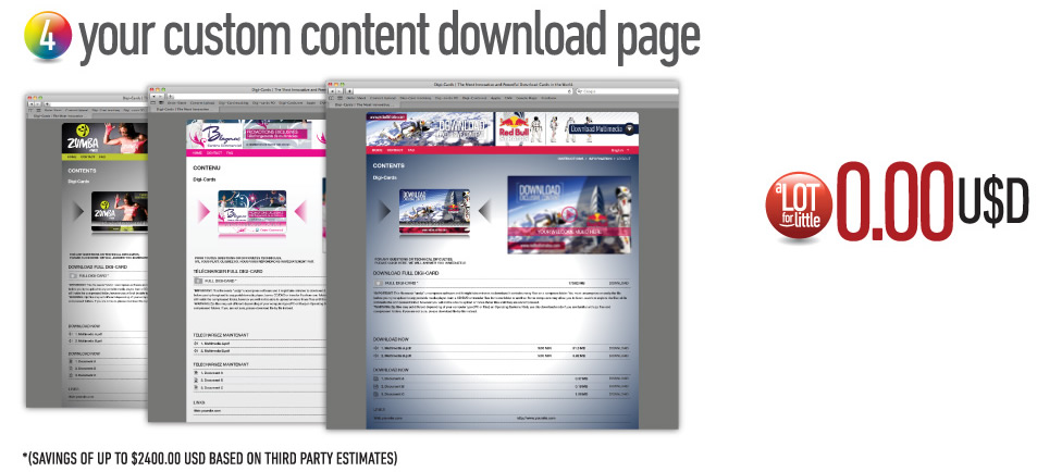 Your custom content download page